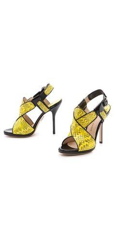 Paul Andrew Babylon Snakeskin Sandals | SHOPBOP