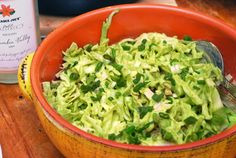 Creamy Avocado Cole Slaw...just made it & it's supper yummy. I blended with California Avocado recipe