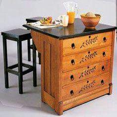 Kitchen Island From Dresser dresser to kitchen island repurpose ideas - | repurpose, dresser
