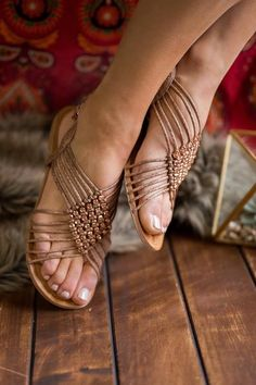 189b650e4b4 Wild Roses Rope Detail Rhinestone Accent Sandals (Nude)