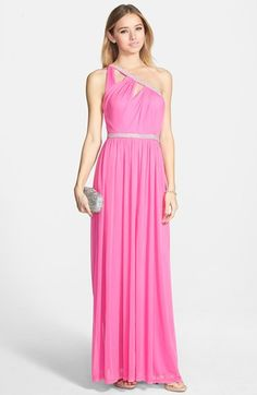 Hailey Logan Sequin Bodice One Shoulder Gown (Juniors) available at ...