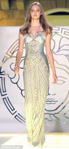 Versace Fall 2012 - art moderne, readily done with eyelet lace