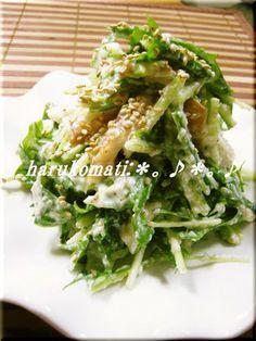 つくれぽ1000件超え!お豆腐で水菜がおいしいサラダ