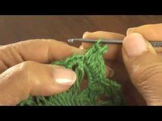 Horquilla (hairpin lace): motivo circular 6