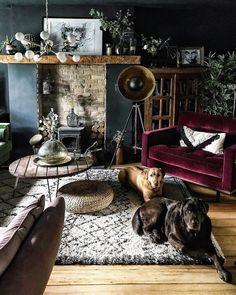 Home Interior Salas .Home Interior Salas My Living Room, Home And Living, Living Room Decor, Bedroom Decor, Cute Home Decor, Cheap Home Decor, Dark Interiors, Interior Design Living Room, Room Inspiration