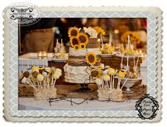 """Look at my cake featured at The Metro for Burlap Lace and Paper Roses!... """"Sunflower Cake"""""""