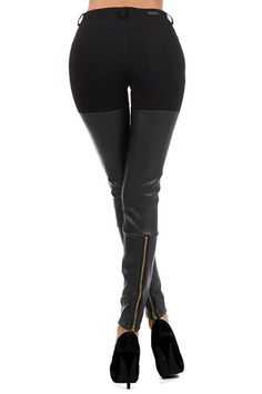 Chic Faux Leather Boot Leggings