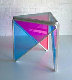 Translucent Triangular Stands - The Trinity Side Table Literally Brightens Up the Room (GALLERY)
