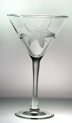 Starfish Design Martini Glasses