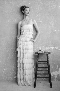 Pointillist Gown in SHOP The Bride Wedding Dresses at BHLDN