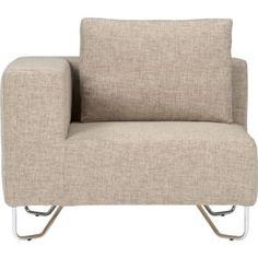 CB2 lotus natural corner chair