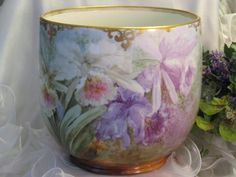 """Monumental VICTORIAN FRENCH GORGEOUS """"RARE PINK LAVENDER AND PURPLE from oldbeginningsantiques on Ruby Lane"""