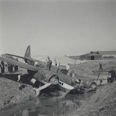 Numerous Luftwaffe aircraft crashed at Dutch airports during take-off or landing as it was on June 3, 1941