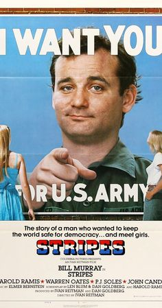 Directed by Ivan Reitman.  With Bill Murray, John Candy, Harold Ramis, Warren Oates. Two friends who are dissatisfied with their jobs decide to join the army for a bit of fun.