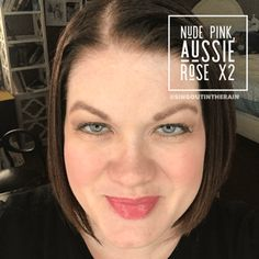 To layer with LipSense lipcolors by SeneGence means to create your own custom lipsense combinations.  YOU get to pick the colors and shades to layer for the perfect diy color.  So MIX IT UP!!  Unlimited number of mixes can be created!  For THIS lipcolor layer: Nude Pink and Aussie Rose LipSense  #lipsense #mixitup #lipsensemixology #senegence