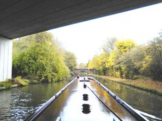 Passing under a duel carriageway before bridge 92 on Grand Union South. fenny Stratford and return from Gayon Marina 3 or 4 night holiday www.abcboathire.com