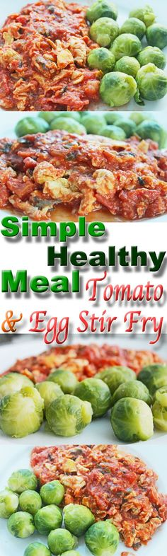 simple healthy meals dinner: tomato and egg stir fry