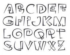 Showcase - Oneliner - Continuous line alphabet Hand Lettering Alphabet, Doodle Lettering, Graffiti Alphabet, Creative Lettering, Calligraphy Alphabet, Calligraphy Fonts, Typography Fonts, Lettering Design, Cool Fonts Alphabet