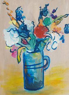 Beautiful Bouquet Paint And Sip, Bouquet, Paintings, Beautiful, Art, Art Background, Paint, Bunch Of Flowers, Painting Art