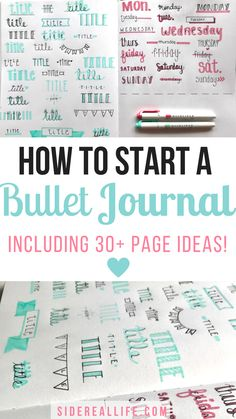The ultimate beginners guide on how to start a bullet journal! How to pick the right tools and perfect your layouts and planning spreads. Plus, over 30 ideas on your next bullet journal page.