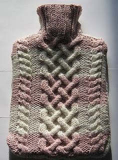 Free hot water bottle cover knitting patterns pinterest kismets companion free pattern cabled hot water bottle cover dt1010fo