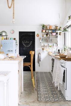 Fliesen & Holzfußboden, Küche