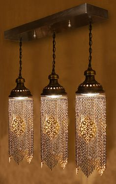 Ottoman Chain Ceiling Chandelier Architectural Turkish Lighting
