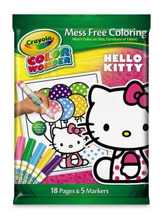 Crayola Hello Kitty 18-page Mess-Free Coloring Book & 5 markers