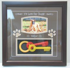 x Dog Shadow Box Frame.They don't have to be gone to remember special moments with your pet. Dog Shadow Box, Shadow Box Frames, Pet Memorial Frames, Shadow Box Display Case, Military Gifts, Boxes For Sale, Retirement Gifts, Pet Memorials, Losing A Pet