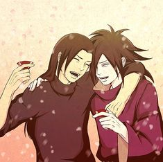 More sake! Madara And Hashirama, Naruto Shippuden Sasuke, Anime Naruto, Boruto, Loki Drawing, Naruto Images, Anime Ships, Image Boards, Fan Art