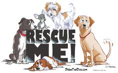 Draw the Dog- Awesome cartoon drawings. Rescue groups can use free on their t-shirts as fundraisers.