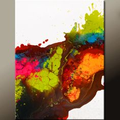 Abstract Canvas Art Painting 18x24 Original by wostudios on Etsy, $69.00