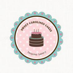 Premade Logo Cake Logo Design Bakery Logo Bakers Logo by stylemesweetdesign