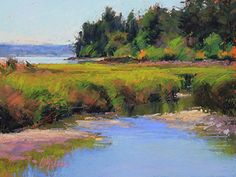 """Tidal Marsh"" pastel artist by Susan Ogilvie  9 x 12 - SOLD"