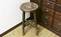 昭和のレトロな丸椅子