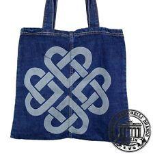 06. Jeans Denim Tote Bag Marionelli CELTIC HEART Tasche  Beutel / Stofftasche