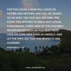 Ephesians 5:31-33 by inspiredbythebible http://ift.tt/1KAavV3