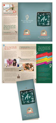 tri fold brochure illustrator template - 15 cool tutoring flyers 9 tutoring pinterest pto