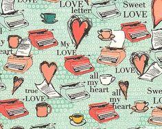 CWAMH3MI - All My Heart - Love Letters & Coffee - Spearmint Green
