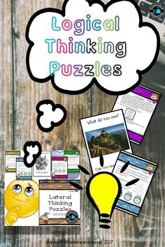 Deduction, Inference, critical thinking and developing logical reasoning skills are such an important part of preparing our students for the real world.  These fun activities will have your students stretching their brains to think outside of the square.  Be prepared for a class lit up with light bulb moments!!!