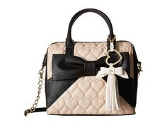Betsey Johnson Big Bow Tote w/ Heart Clip Sand - 6pm.com