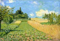 Alfred Sisley - The Cornfield