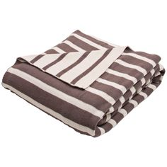 Jaipur Trinity Brown and Ivory Cotton Throw Blanket - Style # 9H869