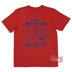 Camiseta Masculina Vermelha Regular Fit 100% Algodão - Wrangler: Homens