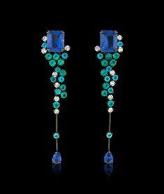 Fait Main Argent 925 Emeraude Opal Ear Hoop Stud Dangle Boucles d/'Oreilles Mariage Bijoux