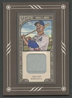2015 Topps Gypsy Queen Adrian Gonzalez Game Used Jersey Card Los Angeles Dodgers #LosAngelesDodgers