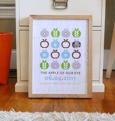 Baby Birthday Info Poster