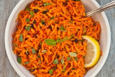 Serious Salads: Grated Carrot and Mint Salad with Honey Lemon Vinaigrette