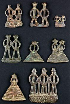 Amulette, Bronze, Senufo / Elfenbeinküste H 4 - 5 cm