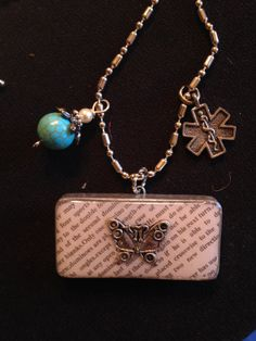 """18"""" ball chain necklace with pendant and charms"""
